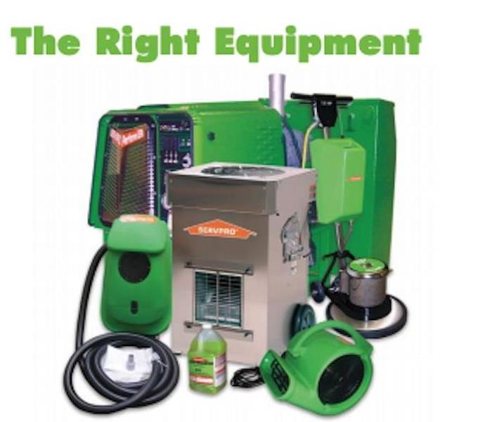 SERVPRO equipment on a white background.